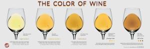 Kleuren witte wijn volgens Wine Folly